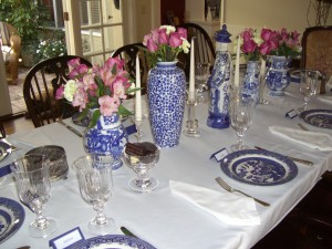 Awesome This Was The Blue And White Table Setting For My Birthday Group.
