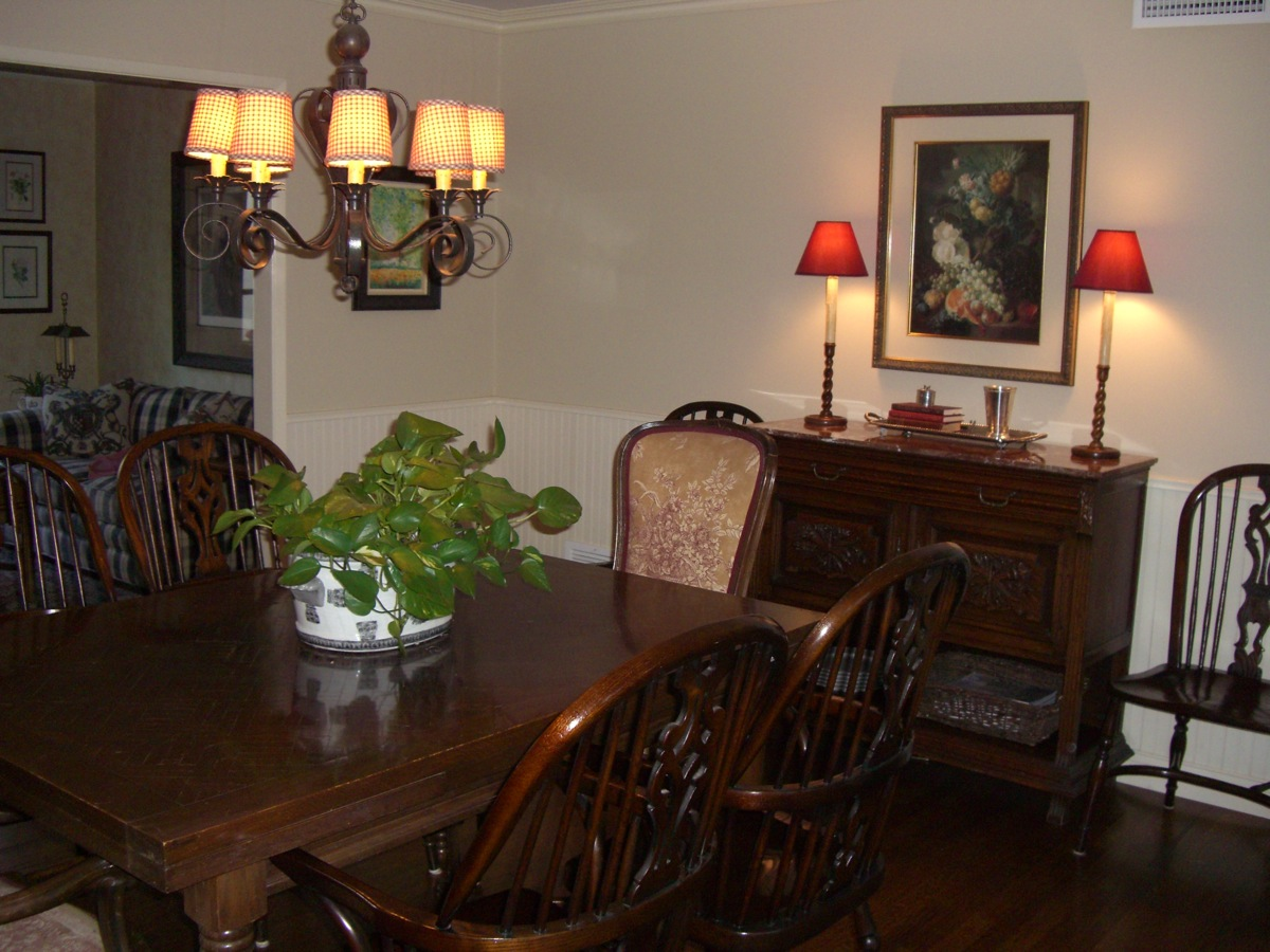 Living Room Breakfront Was Added Later